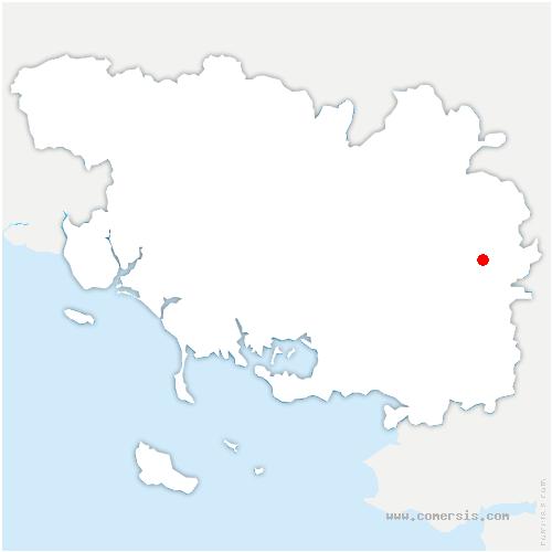 carte de localisation de Tréal
