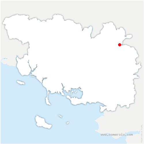 carte de localisation de Tréhorenteuc