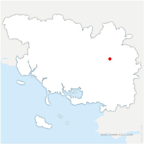 carte de localisation de Val d'Oust