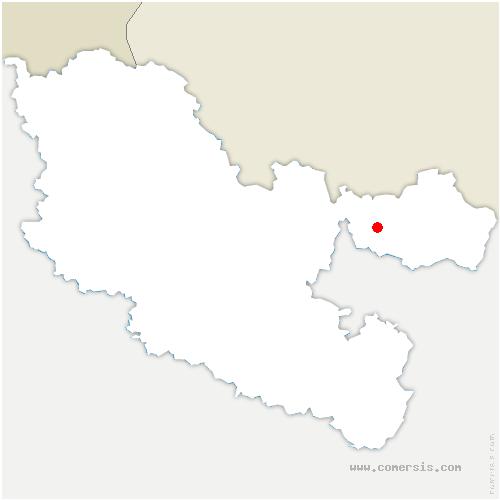 carte de localisation de Achen