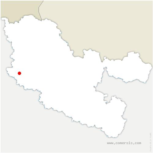 carte de localisation de Ancy-Dornot