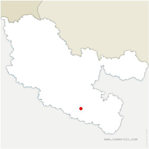 carte de localisation de Assenoncourt