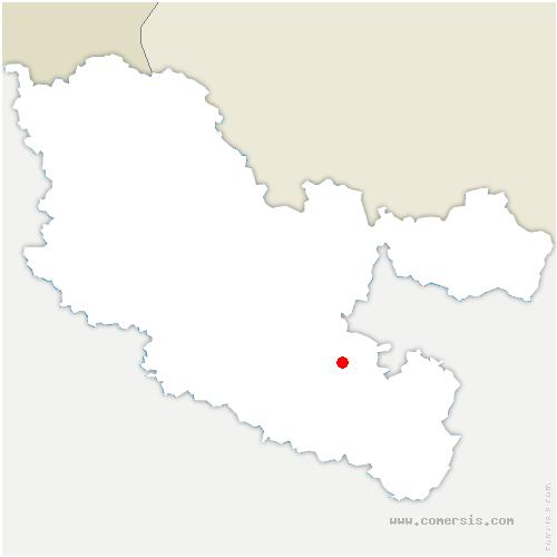 carte de localisation de Berthelming
