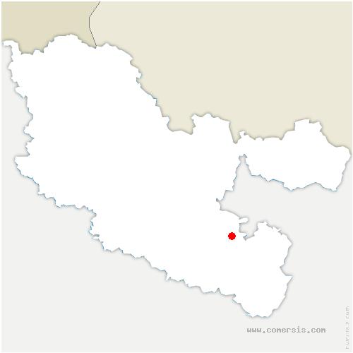 carte de localisation de Bettborn