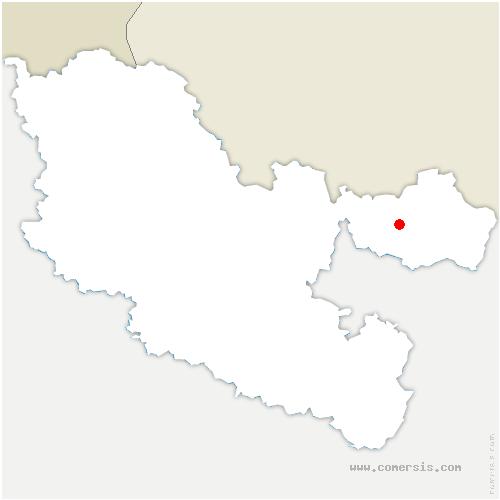 carte de localisation de Bettviller