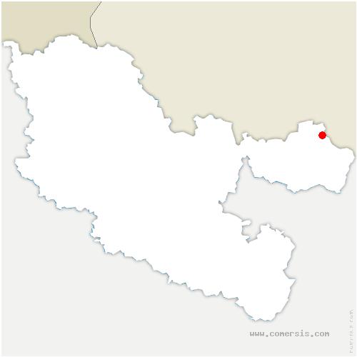carte de localisation de Bousseviller