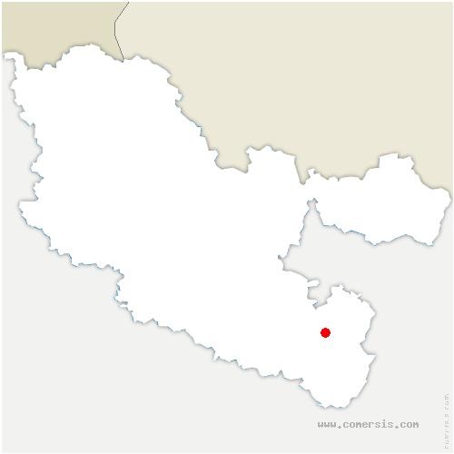 carte de localisation de Buhl-Lorraine