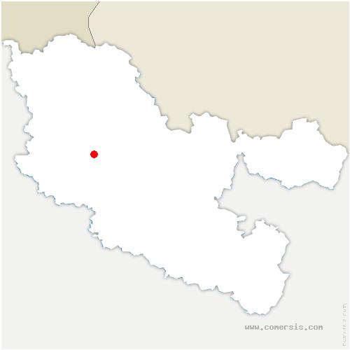 carte de localisation de Colligny-Maizery