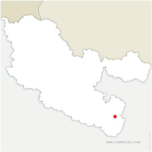 carte de localisation de Dabo