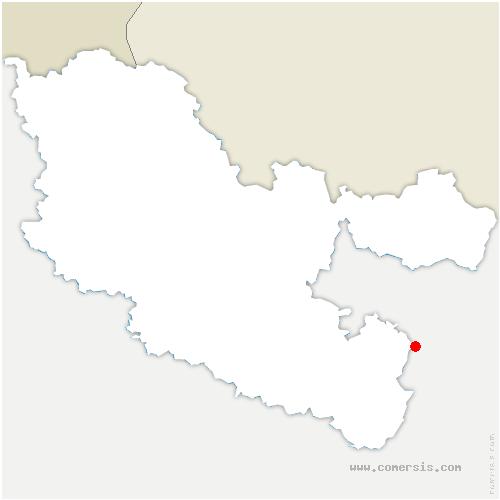 carte de localisation de Danne-et-Quatre-Vents