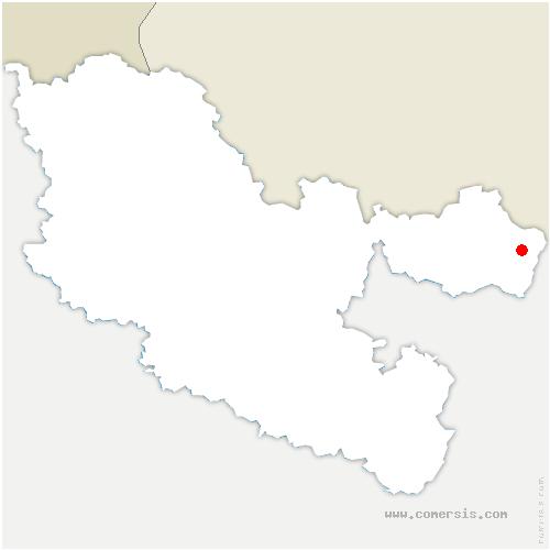 carte de localisation de Éguelshardt