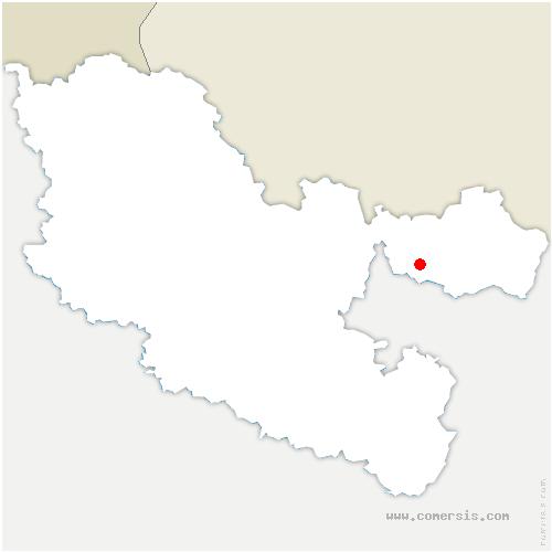 carte de localisation de Etting