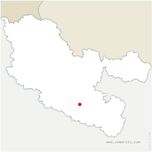 carte de localisation de Guermange