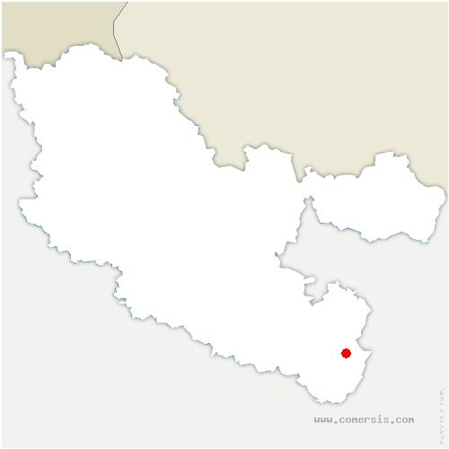 carte de localisation de Harreberg