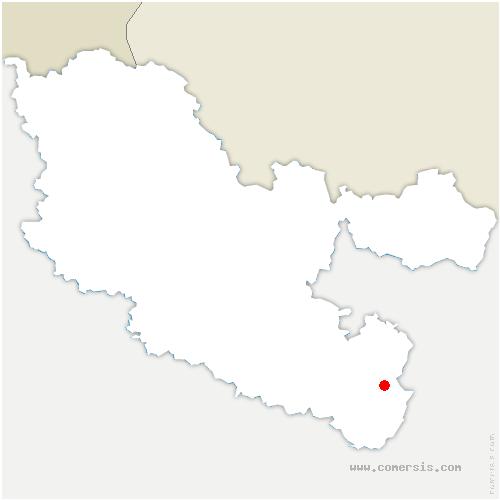 carte de localisation de Hommert