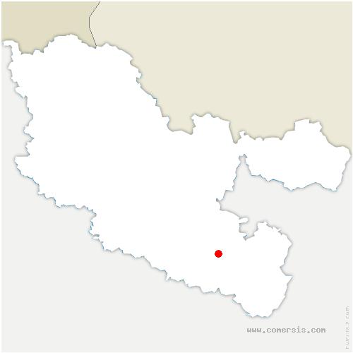 carte de localisation de Kerprich-aux-Bois