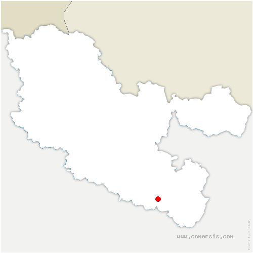 carte de localisation de Landange