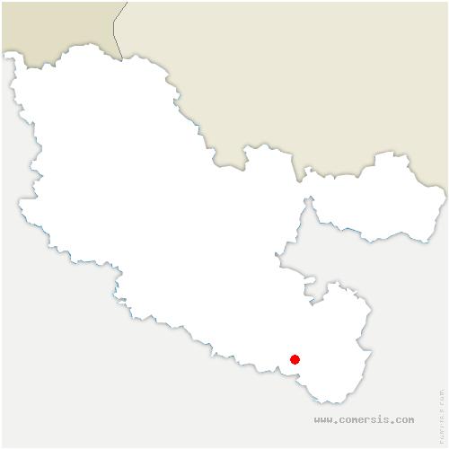 carte de localisation de Laneuveville-lès-Lorquin