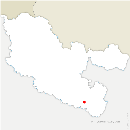 carte de localisation de Lorquin