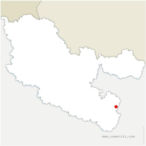 carte de localisation de Lutzelbourg
