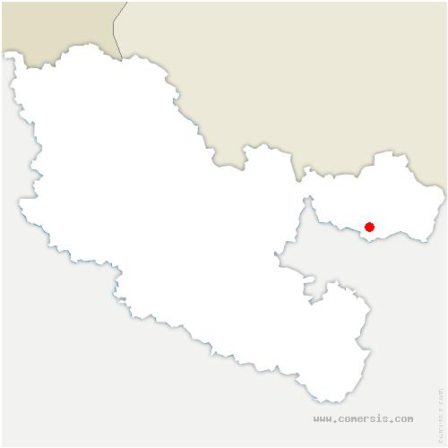 carte de localisation de Meisenthal