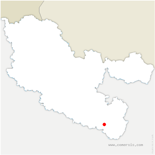 carte de localisation de Métairies-Saint-Quirin