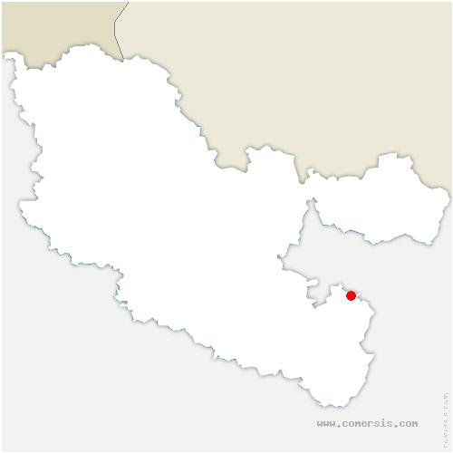 carte de localisation de Metting