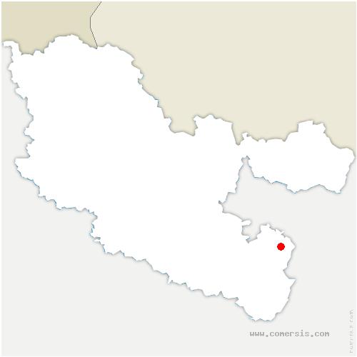 carte de localisation de Mittelbronn