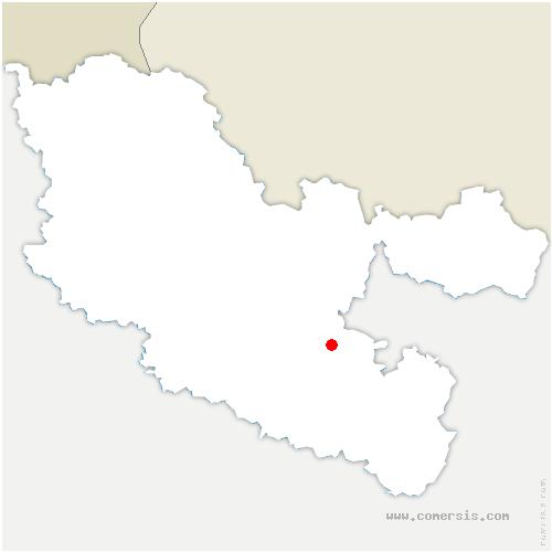 carte de localisation de Mittersheim