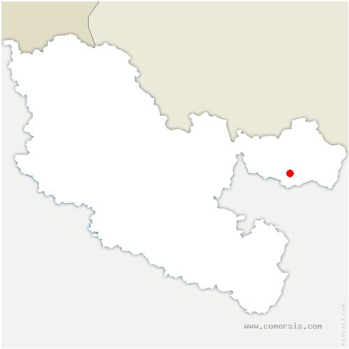 carte de localisation de Montbronn