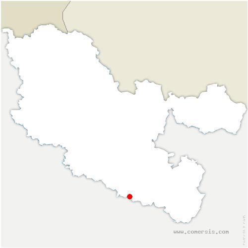 carte de localisation de Moussey