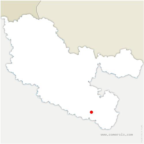 carte de localisation de Neufmoulins