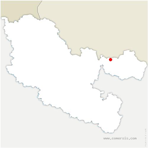 carte de localisation de Obergailbach