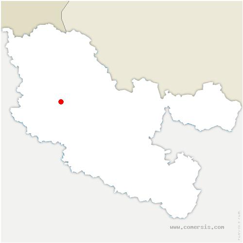 carte de localisation de Ogy-Montoy-Flanville