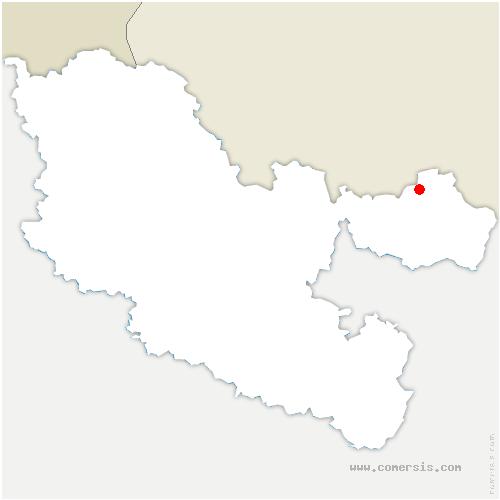 carte de localisation de Ormersviller