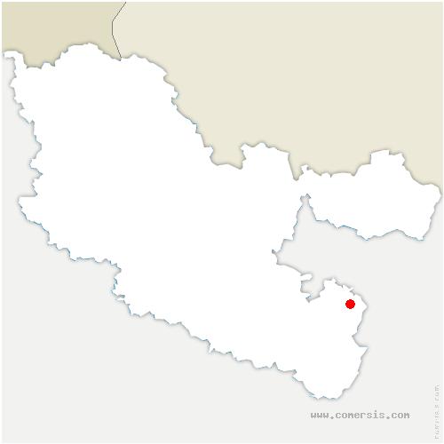 carte de localisation de Phalsbourg