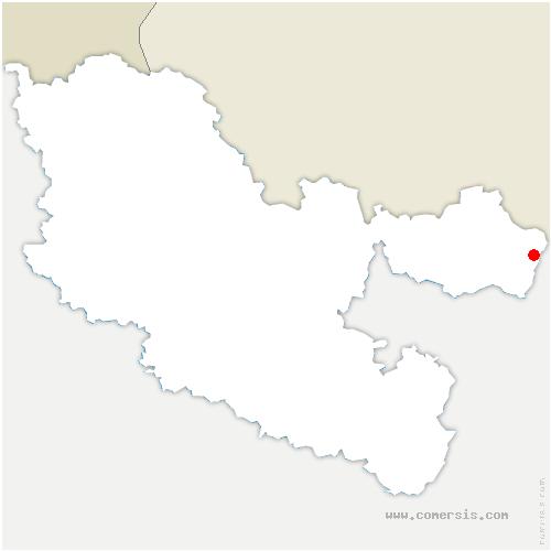 carte de localisation de Philippsbourg