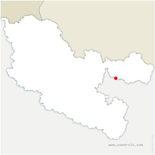 carte de localisation de Rahling