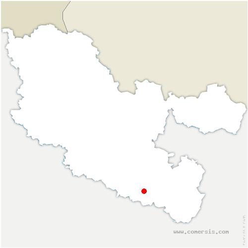 carte de localisation de Réchicourt-le-Château