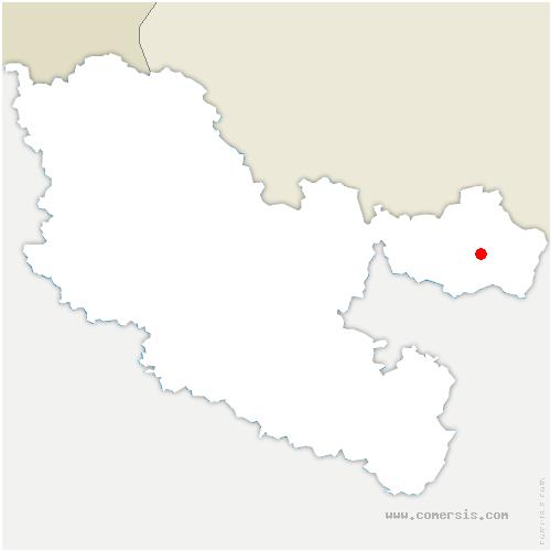carte de localisation de Reyersviller
