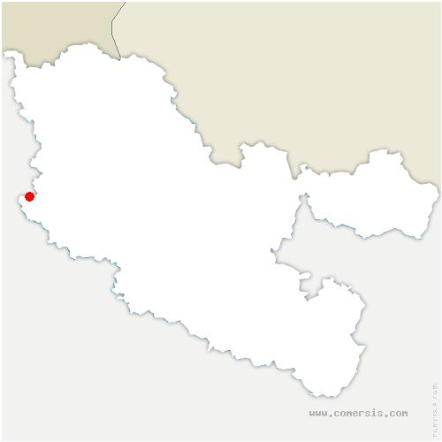 carte de localisation de Rezonville-Vionville