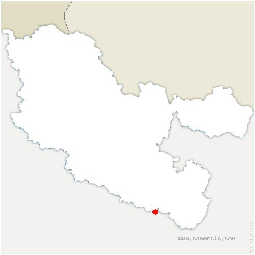 carte de localisation de Richeval