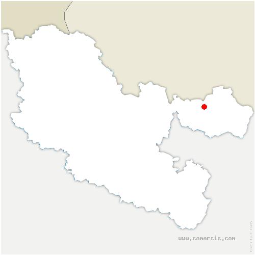 carte de localisation de Rimling