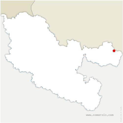 carte de localisation de Roppeviller