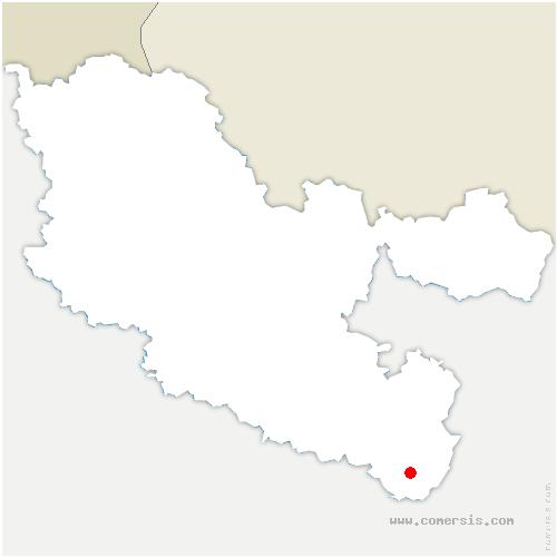 carte de localisation de Saint-Quirin