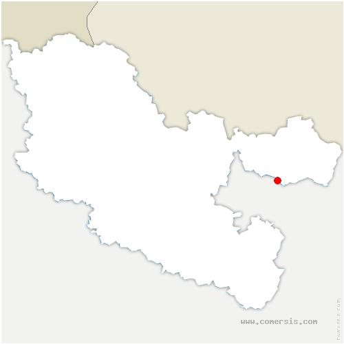 carte de localisation de Soucht