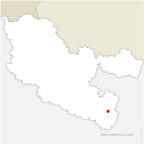 carte de localisation de Troisfontaines