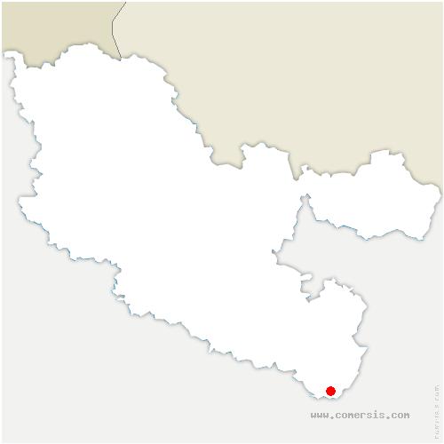 carte de localisation de Turquestein-Blancrupt