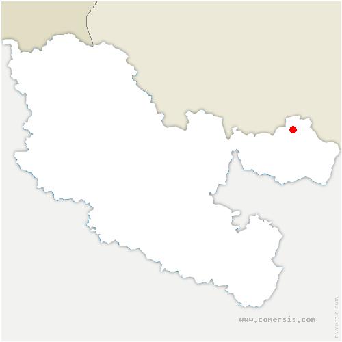 carte de localisation de Volmunster