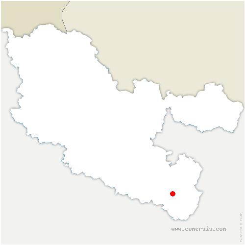 carte de localisation de Voyer